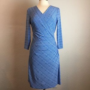 LIKE NEW! Laundry blue & white dress G